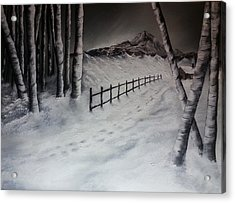 Path To Solitude Acrylic Print by Valorie Cross