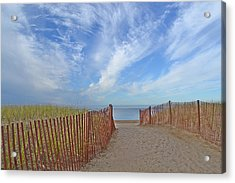 Path To The Beach Acrylic Print by Marjorie Tietjen
