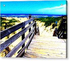Path To The Beach Acrylic Print by Scott Hamilton