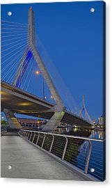 Path To The Leonard P. Zakim Bridge Acrylic Print by Susan Candelario