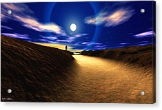 Path To The Moon Acrylic Print