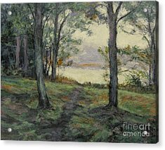 Path To The Pond / Early Morning Acrylic Print by Gregory Arnett