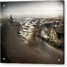Paths Acrylic Print by Akos Kozari