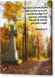 Pathway Cross Acrylic Print