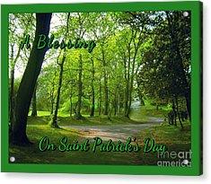 Pathway Saint Patrick's Day Greeting Acrylic Print