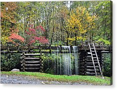 Pathway To The Mill Acrylic Print by Mary Anne Baker
