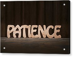 Patience Acrylic Print by Donald  Erickson