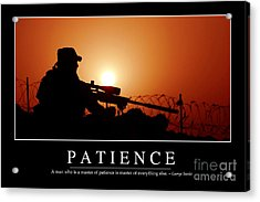Patience Inspirational Quote Acrylic Print by Stocktrek Images