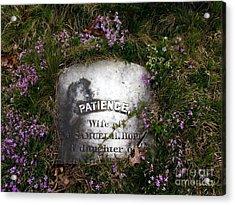 Patience Acrylic Print
