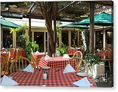 Patio Dining At The Swiss Hotel In Downtown Sonoma California 5d24439 Acrylic Print by Wingsdomain Art and Photography