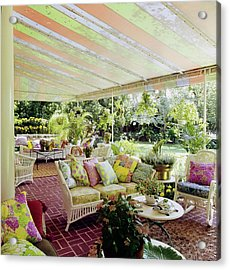 Patio Of Lilly Pulitzer's House Acrylic Print