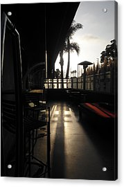 Patio Sunset Acrylic Print by Bruce Sommer