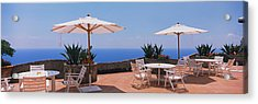 Patio Umbrellas In A Cafe, Positano Acrylic Print by Panoramic Images