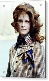 Patricia Dow Wearing Anne Klein Acrylic Print