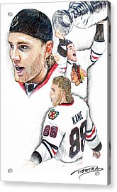 Patrick Kane - The Moment Acrylic Print by Jerry Tibstra
