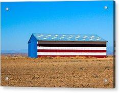 Patriotic Barn Acrylic Print