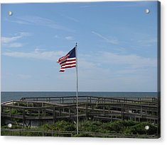 Patriotic Beach View Acrylic Print