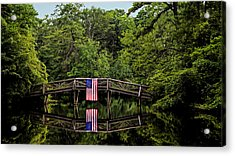 Patriotic Bridge Acrylic Print