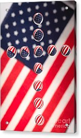 Patriotic Cross Acrylic Print by Pattie Calfy