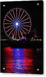 Patriotic Ferris Wheel Acrylic Print by Kym Backland