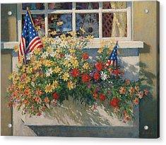 Patriotic Flower Box Acrylic Print by Sharon Will