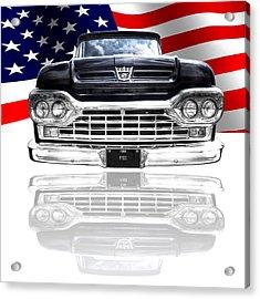 Patriotic Ford F100 1960 Acrylic Print by Gill Billington