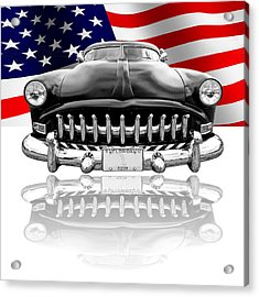 Patriotic Hudson 1952 Acrylic Print by Gill Billington