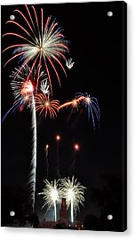 Acrylic Print featuring the photograph Patriotic Illumination by Kevin Munro
