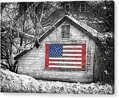 Patriotic American Shed Acrylic Print