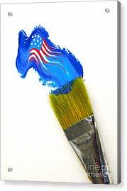 Patriotic Paint Acrylic Print by Diane Diederich