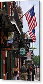 Patriotic Pat Obriens Acrylic Print by Margaret Bobb