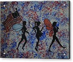 Patriotic Pixie Fairy Acrylic Print by Tim Casner