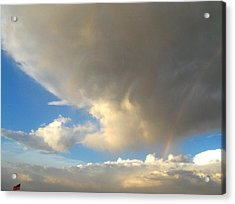 Patriotic Rainbow Clouds Acrylic Print
