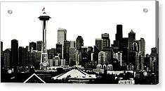 Patriotic Seattle Acrylic Print by Benjamin Yeager
