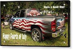 Patriotic Truck Acrylic Print