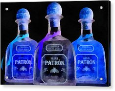 Patron Tequila Black Light Acrylic Print by Dan Sproul