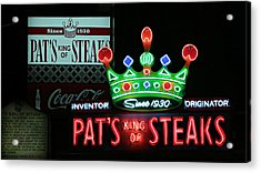 Pat's King Of Steaks Acrylic Print by Stephen Stookey