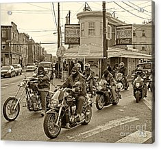 Pat's With Cycles Acrylic Print by Jack Paolini