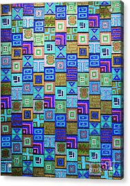 Acrylic Print featuring the drawing Pattern And Color Study2 by Megan Dirsa-DuBois