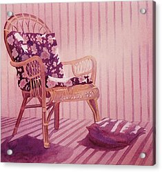 Acrylic Print featuring the painting Patterns In The Morning by John  Svenson
