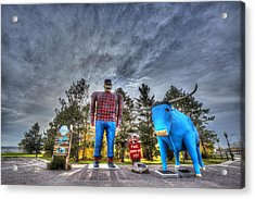 Paul Bunyan And Babe The Blue Ox In Bemidji Acrylic Print by Shawn Everhart