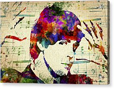 Paul Mccartney Acrylic Print by Aged Pixel