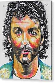 Paul Mccartney Acrylic Print by Chrisann Ellis