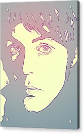 Paul Mccartney Acrylic Print by Giuseppe Cristiano