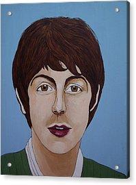 Paul Mccartney Acrylic Print by Linda Kassabian