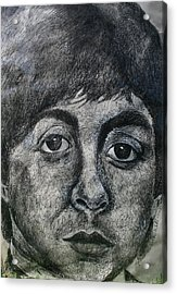 Acrylic Print featuring the painting Paul Mccartney by Melinda Saminski