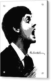 Paul Mccartney No.01 Acrylic Print by Caio Caldas