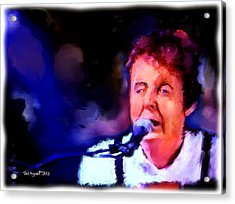 Paul Mccartney Acrylic Print by Ted Azriel