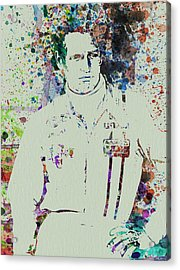 Paul Newman  Acrylic Print by Naxart Studio