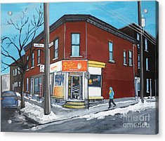 Paul Patate Pte St Charles Acrylic Print by Reb Frost
